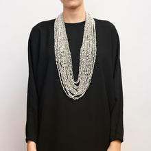 Load image into Gallery viewer, Brecia necklace in bone and kamagong