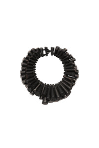 Collar necklace in black acacia