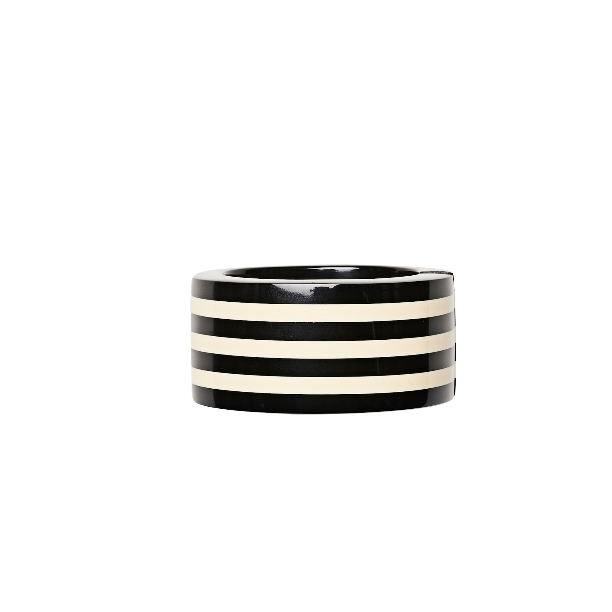 Caroline bracelet in black and white polyester