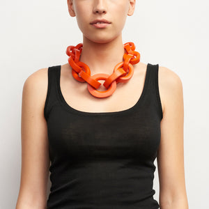 Katie necklace in red polyester