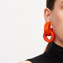 Load image into Gallery viewer, Monies Rose polyester earrings