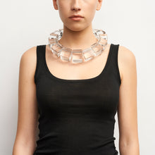 Load image into Gallery viewer, Necklace in clear acrylic
