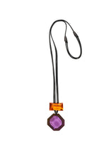 Load image into Gallery viewer, Pendant in purple and orange polyester