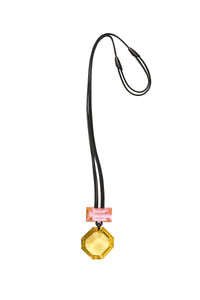 Pendant in pink and yellow polyester