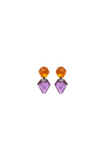 Load image into Gallery viewer, Earring in purple and orange polyester