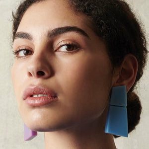 Lecce earclips in polyester