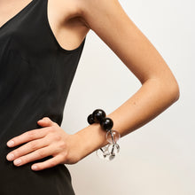 Load image into Gallery viewer, Rimini bracelet in polyester, acrylic and leather
