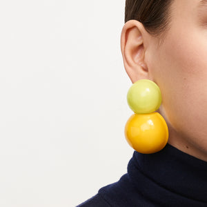 Siena earclips in polyester