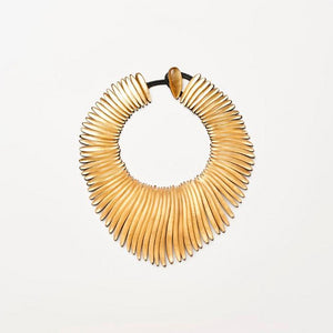 Gold leaf and polyester necklace