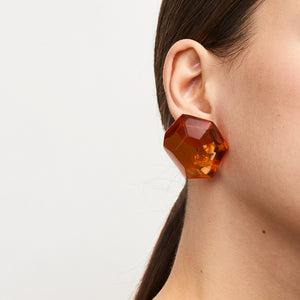 Hailey earring in orange polyester
