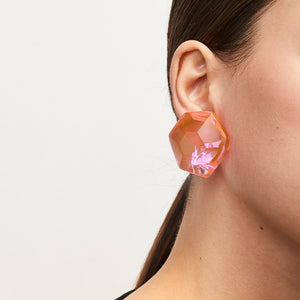 Hailey earring in pink polyester
