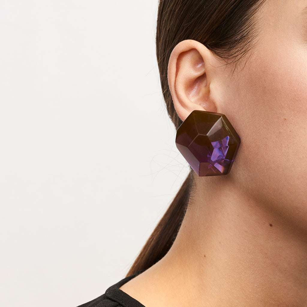 Hailey earring in purple polyester
