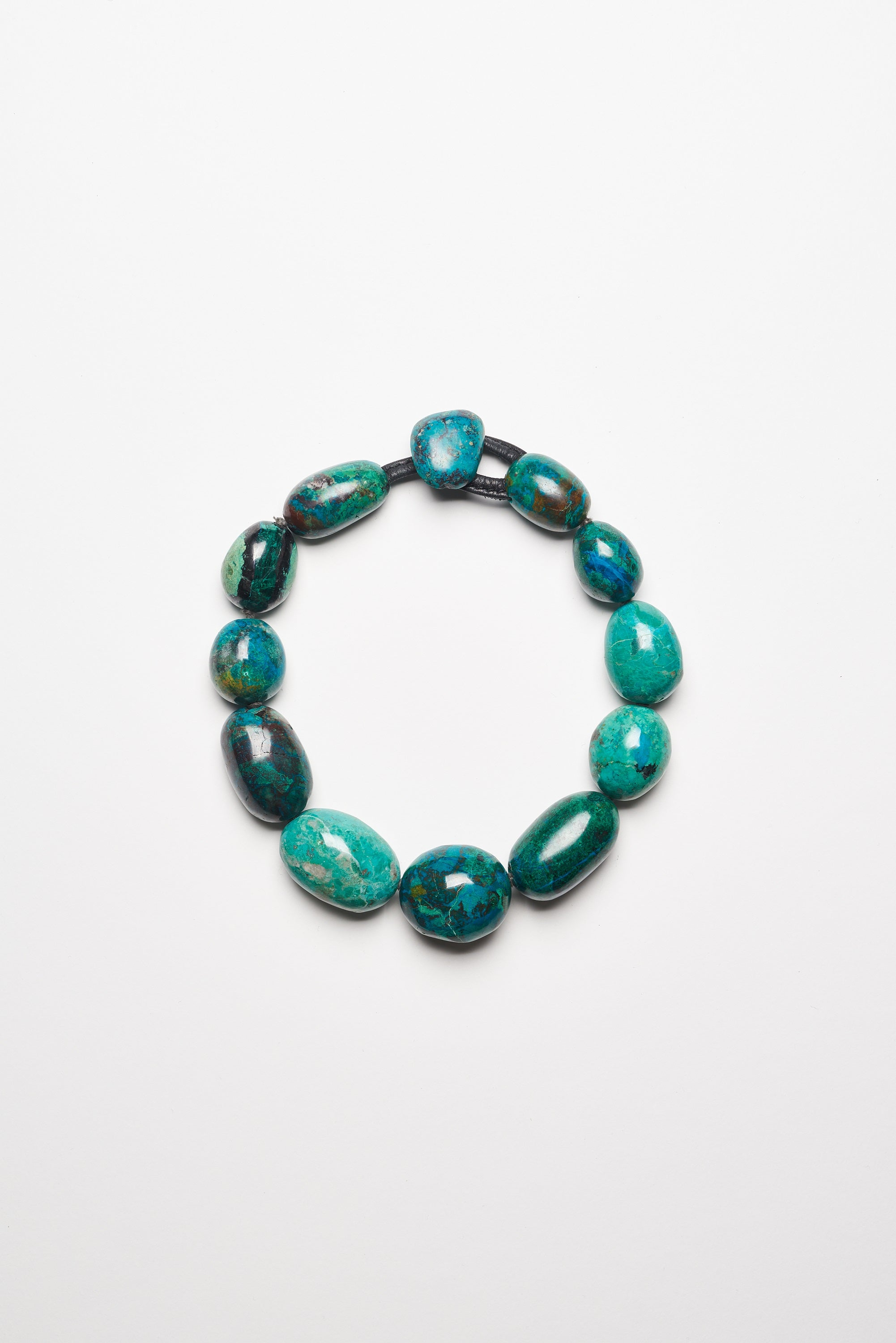 Necklace in chrysocolla