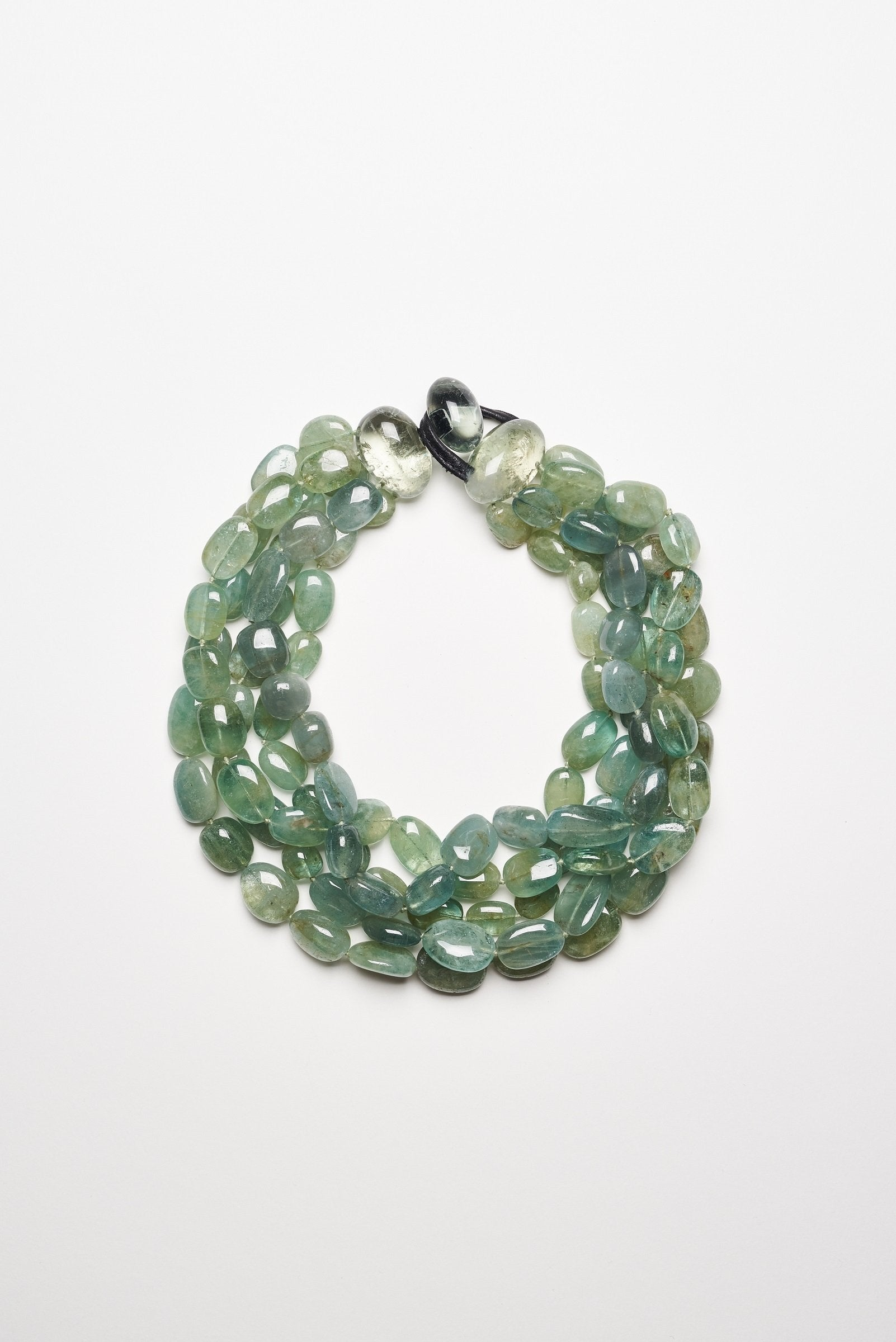 Necklace in  aventurine and green amethyst