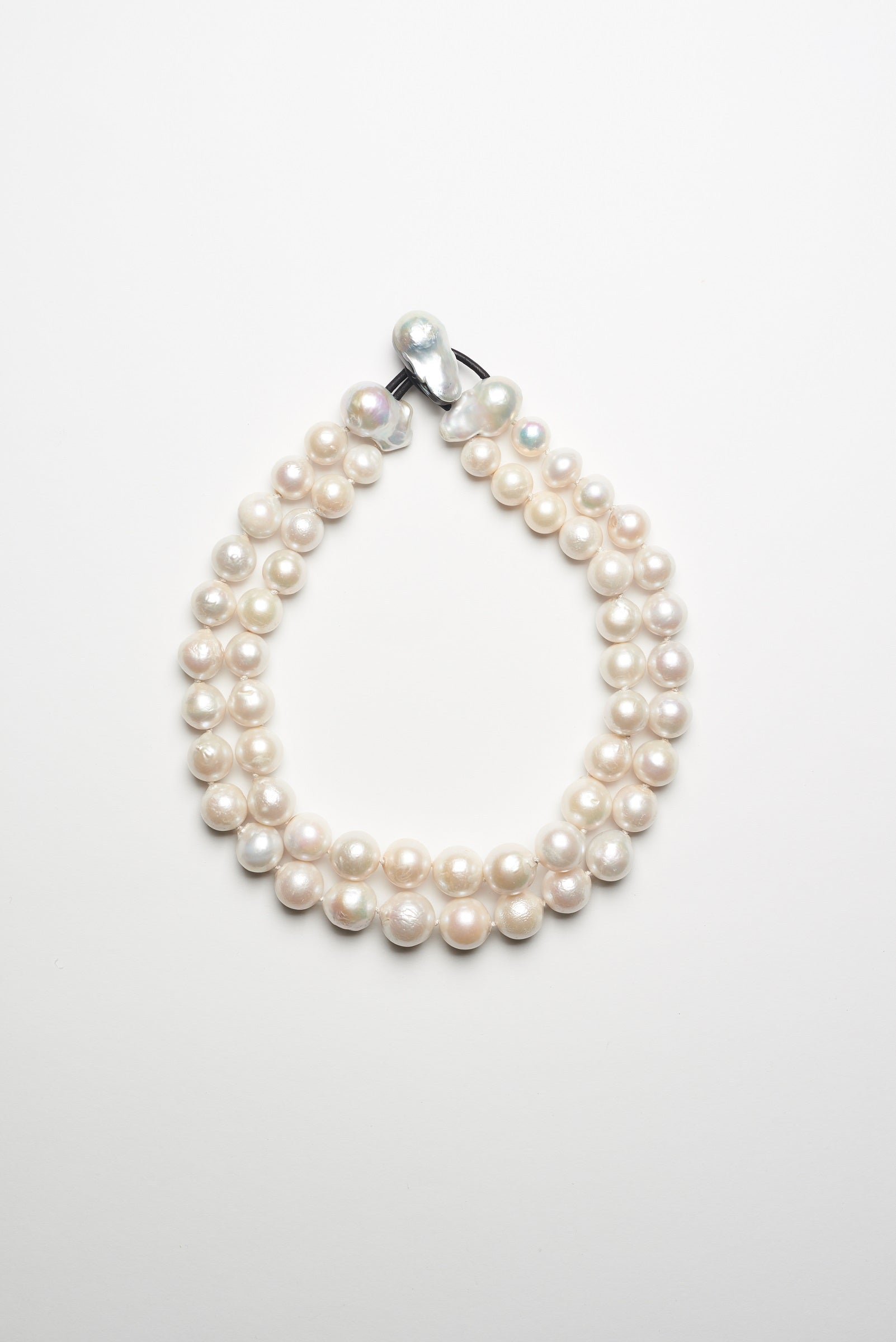 Necklace in fresh water pearls - 2 rows