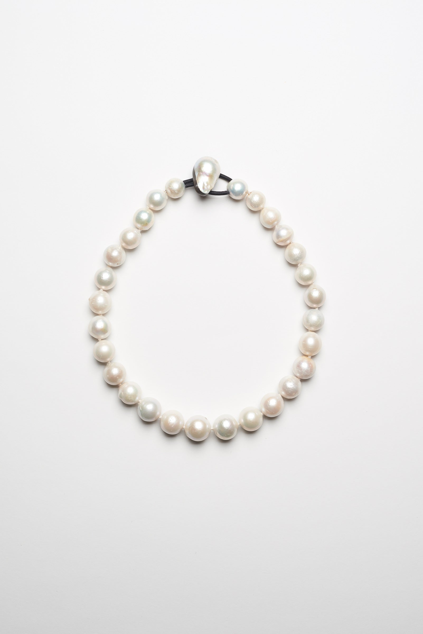Necklace in fresh water pearls - 1 row