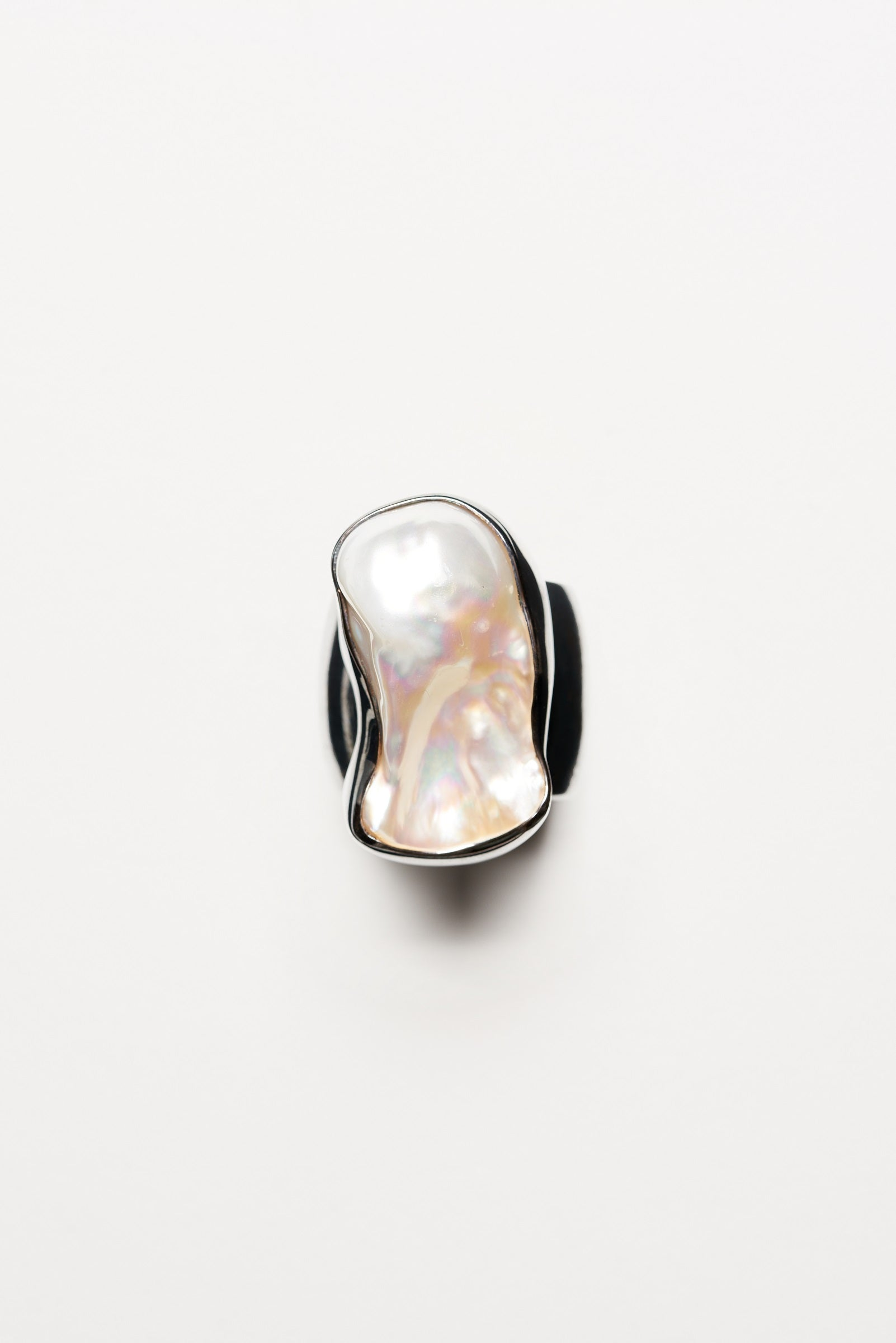 Baroque fresh water pearl ring