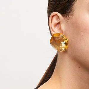 Hailey earring in yellow polyester