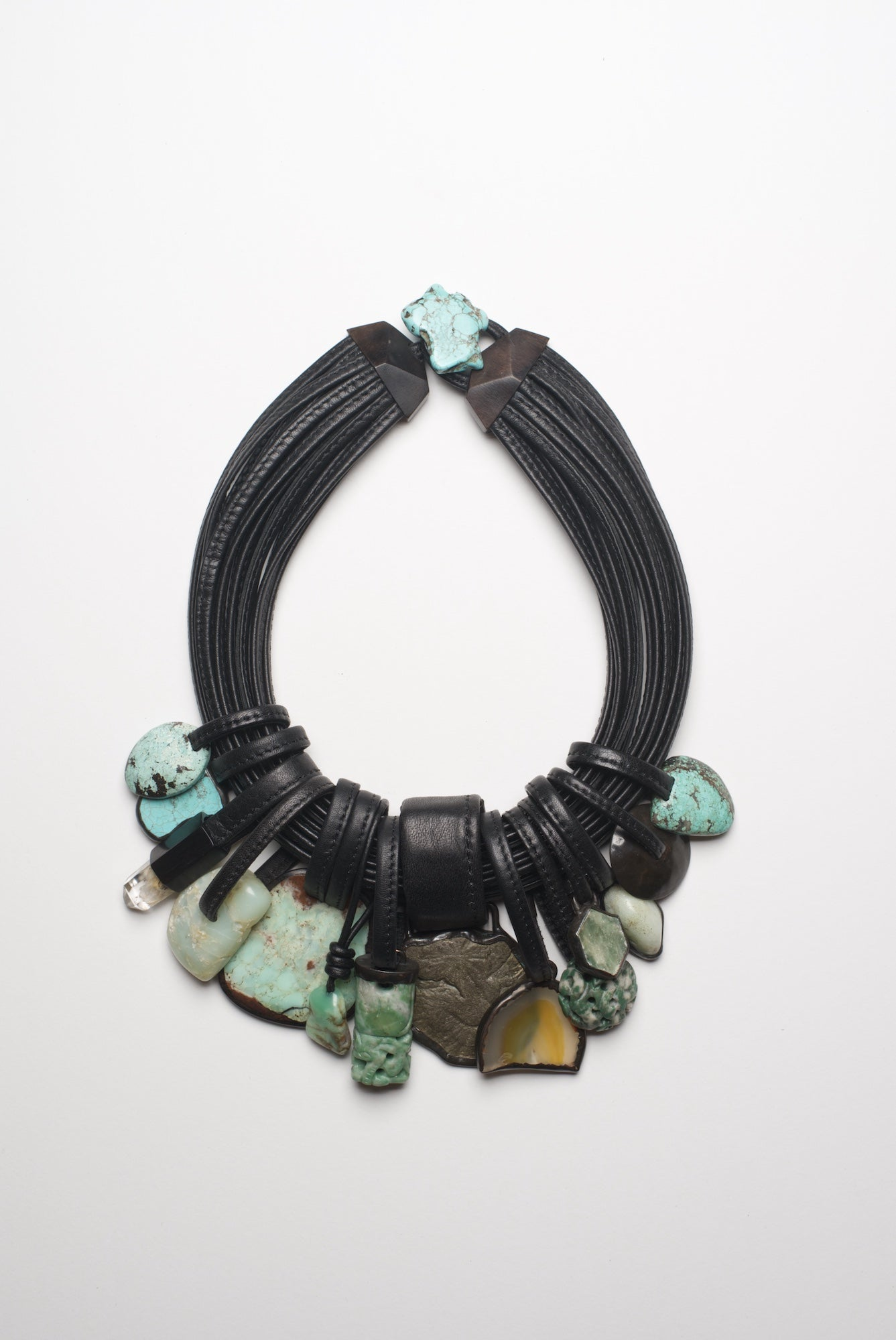 Necklace in chrysoprase