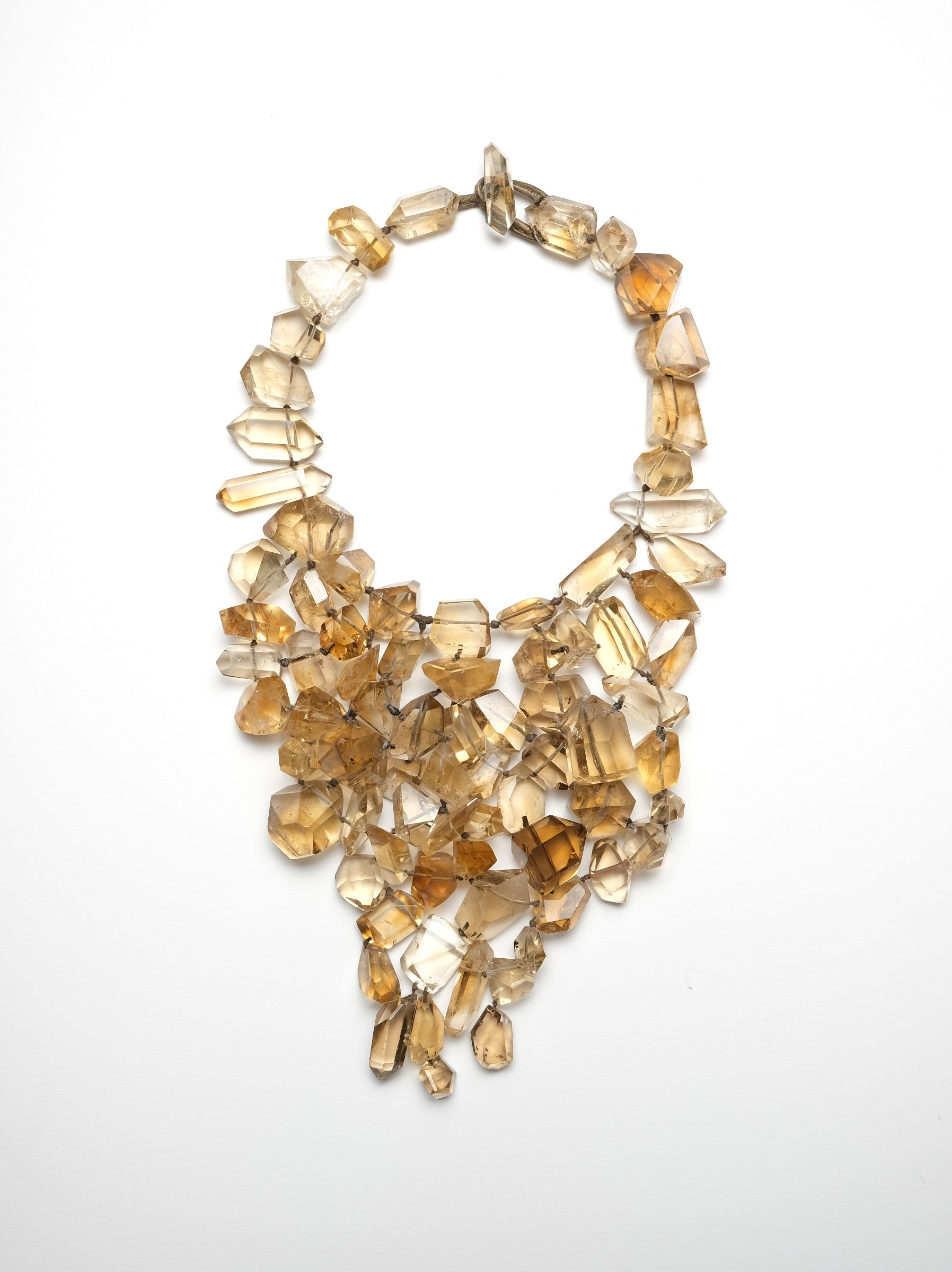 Necklace in citrine