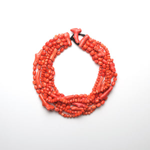Necklace in coral