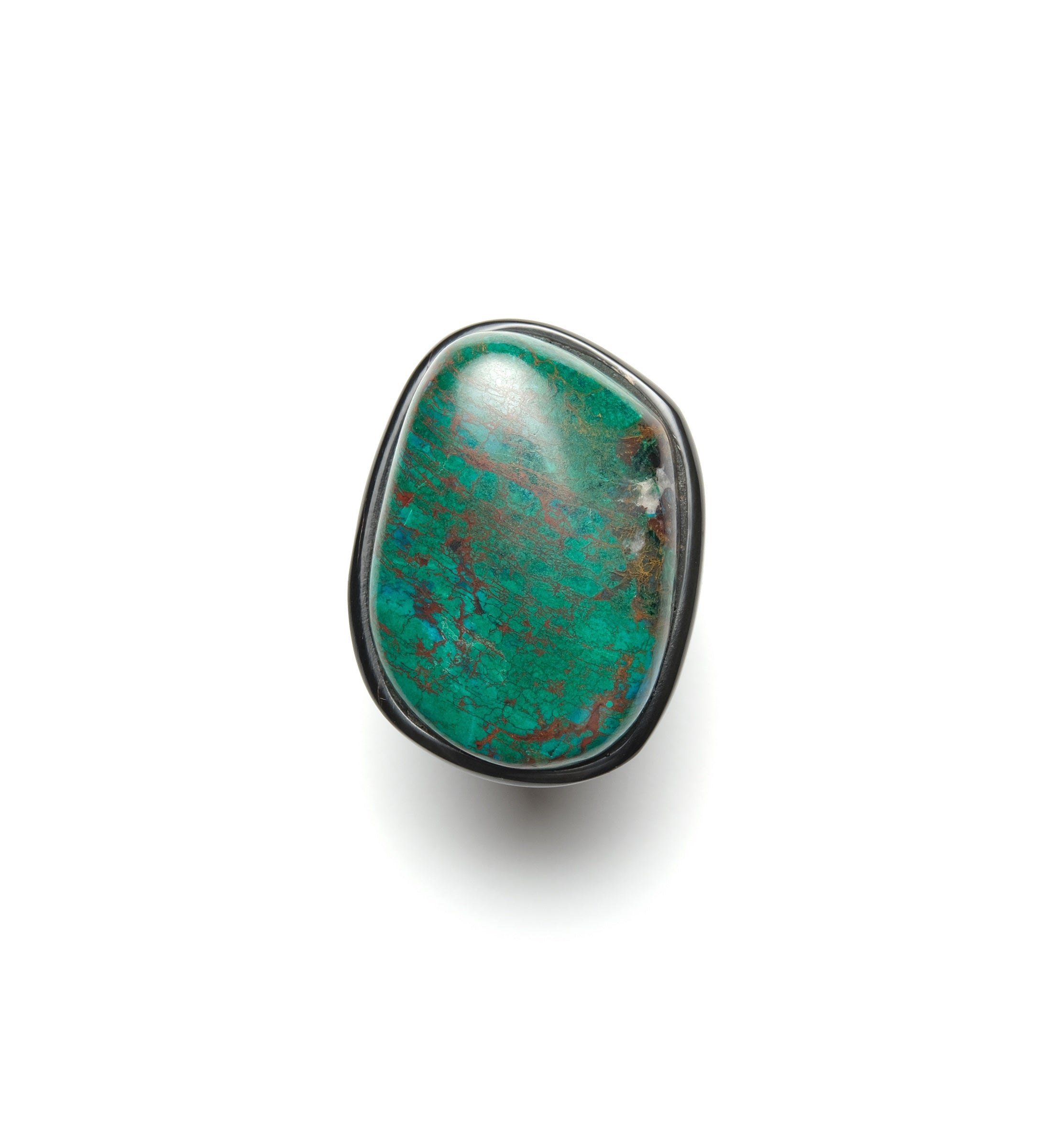 Ring in turquoise and horn