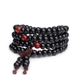 Natural Sandalwood 108 Bead Mala (6mm) - The Buddha Shoppe