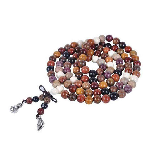 Multi Color Natural Sandalwood 108 Bead Mala