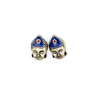 Retro Style Buddha Head Stud Earrings
