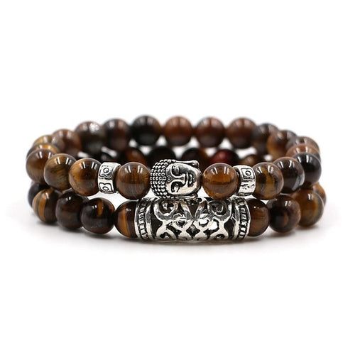 2 Piece Unisex Buddha Bead Bracelet - The Buddha Shoppe