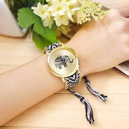 Tribal Elephant Braided Watches