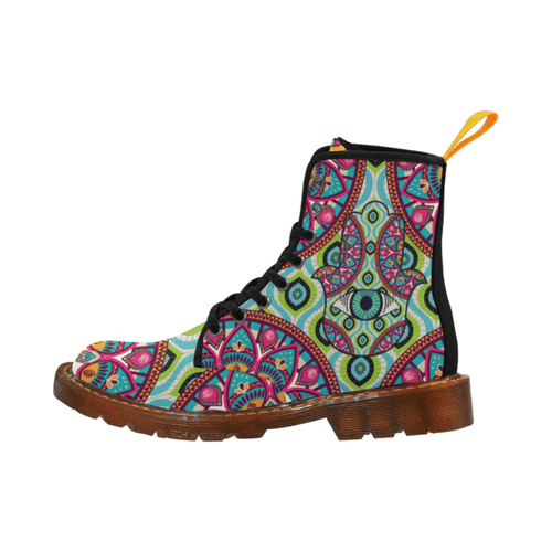 Women's Hamsa Lace Up Canvas Boots