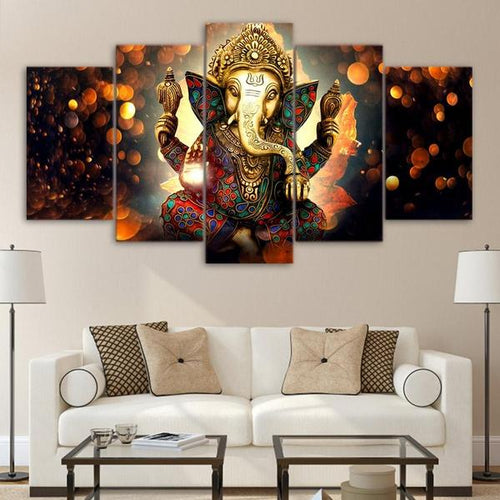 Limited Edition Glorious Ganesha Canvas Painting