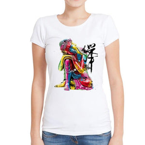 Women's Colorful Buddha Graphic Tee