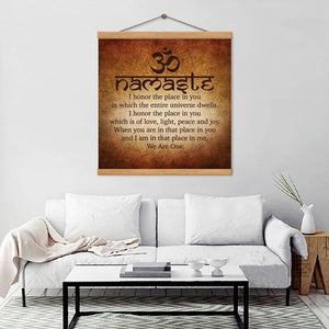 Namaste Inspirational Canvas Print