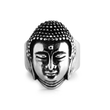 Load image into Gallery viewer, Men's Stainless Steel Buddha Head Ring - The Buddha Shoppe