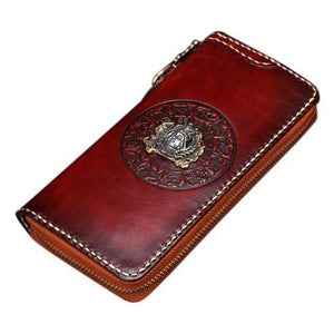 Handmade Genuine Leather Buddha Wallet