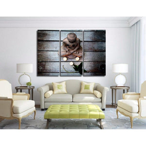 Limited Edition 3 Piece Buddha Candle Canvas Painting - The Buddha Shoppe