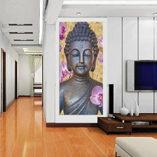 Limited Edition Buddha Floral Canvas Painting - The Buddha Shoppe