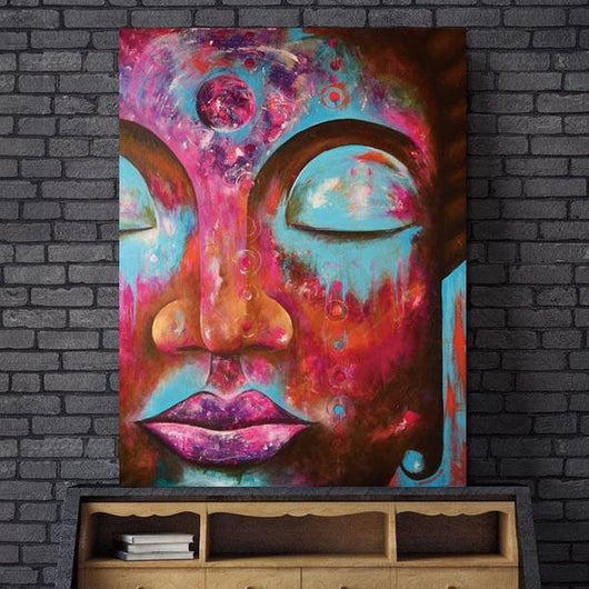 Limited Edition Buddha Abstract Canvas Painting