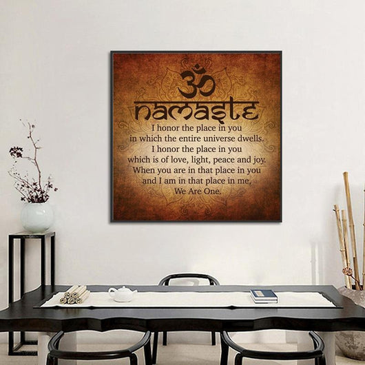 Namaste Inspirational Canvas Print - The Buddha Shoppe
