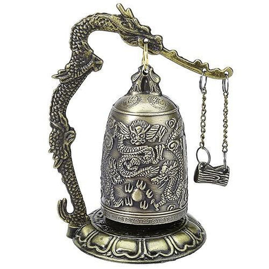 Tibetan Dragon Carved Buddhist Bell - The Buddha Shoppe