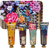 Heathcote & Ivory London travel collection – showergel bodylotion bodyscrub  – 4 tubes in bewaarblik - vegan - cruelty free