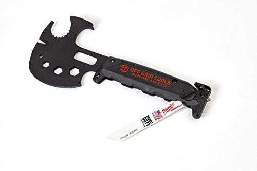 Off Grid Tools OGT-SA100 Survival Axe Elite Multitool-Made In the USA, Black and Gold - SHTFSTOCKPILE.COM