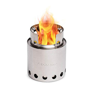Solo Stove Lite - Portable Camping Hiking and Survival Stove | Powerful Efficient Wood Burning and Low Smoke | Gassification Rocket Stove for Quick Boil | Compact 4.2 Inches and Lightweight 9 Ounces - SHTFSTOCKPILE.COM