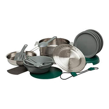Load image into Gallery viewer, Stanley Base Camp Cook Set for 4 | 21 Pcs Nesting Cookware Made from Stainless Steel & BPA Free Material | Incl Pot, lid, Cutting Board, Spatula, Plates, Spoons, Forks, Bowls, Dish Rack, Trivet - SHTFSTOCKPILE.COM
