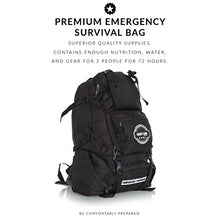 Load image into Gallery viewer, Premium Emergency Survival Bag/Kit – Be Equipped with 72 Hours of Disaster Preparedness Supplies for 2 People - SHTFSTOCKPILE.COM