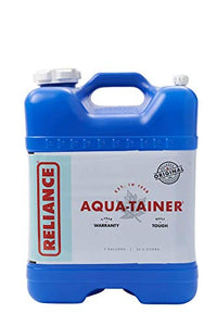 Reliance Products Aqua-Tainer 7 Gallon Rigid Water Container, Blue, 11.3 Inch x 11.0 Inch x 15.3 Inch - SHTFSTOCKPILE.COM