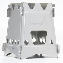 Load image into Gallery viewer, Emberlit Stainless Steel stove,Compact Design Perfect for Survival, Camping, Hunting & Emergency Preparation - SHTFSTOCKPILE.COM