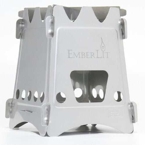 Emberlit Stainless Steel stove,Compact Design Perfect for Survival, Camping, Hunting & Emergency Preparation - SHTFSTOCKPILE.COM